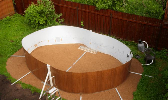 instalare piscina supraterana