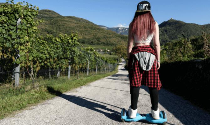 hoverboard grad inclinatie